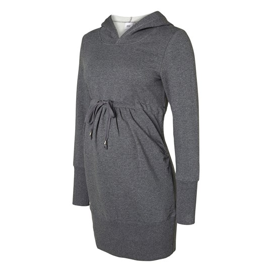 Mamalicious New Karla LS Long Sweat Medium Grey  Grey Black