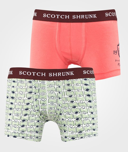 Scotch Shrunk Shrunk Scotch & Soda Underwear Sold in 2-Pack Dessin C Multi