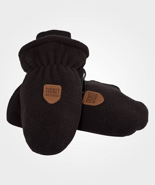 Ticket to heaven Mittens With Rib Black Black