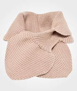 Wheat Knitted Baby Scarf Dark Rose