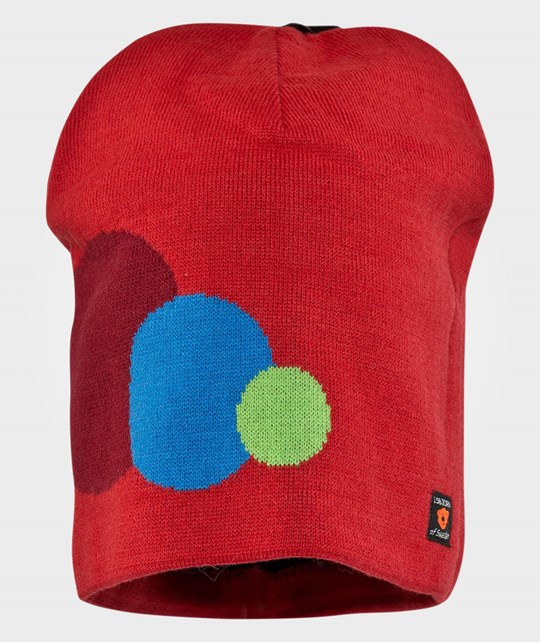 Isbjörn Of Sweden Circles Knitted Cap Happy Red Rød