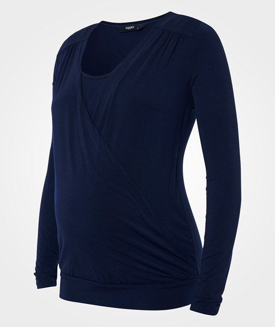 Noppies Tee nursing ls Ruby Dark Blue Blue