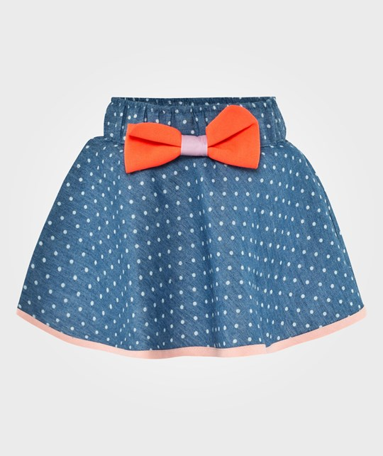 Wauw Capow Tusnelda Skirt Soft denim with dots Blue