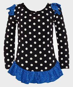 Wauw Capow Ballerina gymsuit Black with dots