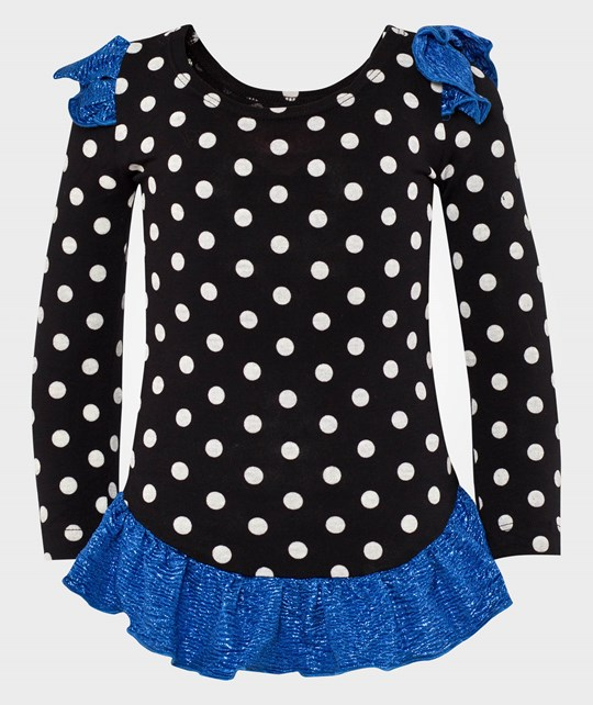 Wauw Capow Ballerina gymsuit Black with dots Black
