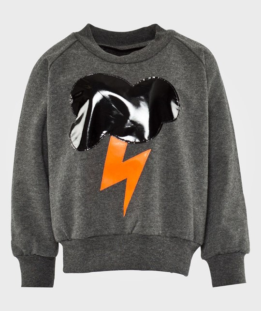 Wauw Capow Electric Sweatshirt Dark grey melange Black