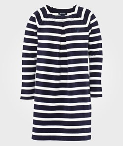Gant E. STRIPED JERSEY DRESS THUNDER BLUE