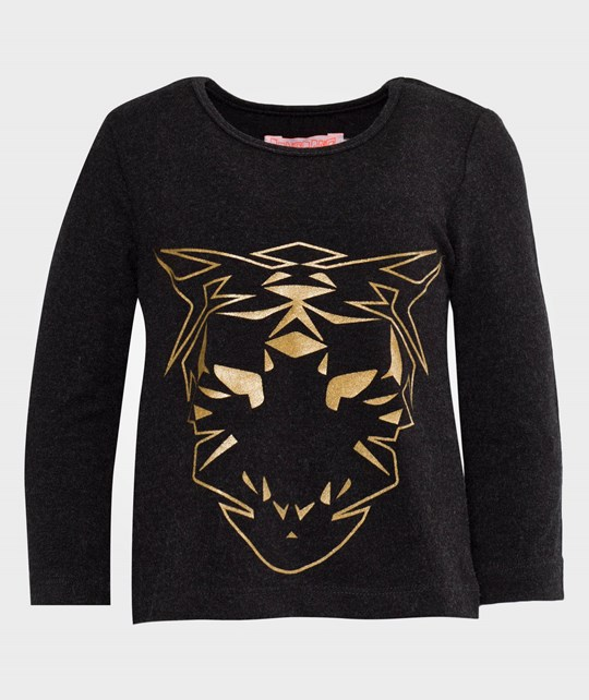 Wauw Capow Tiger T-shirt Dark grey melange Sort