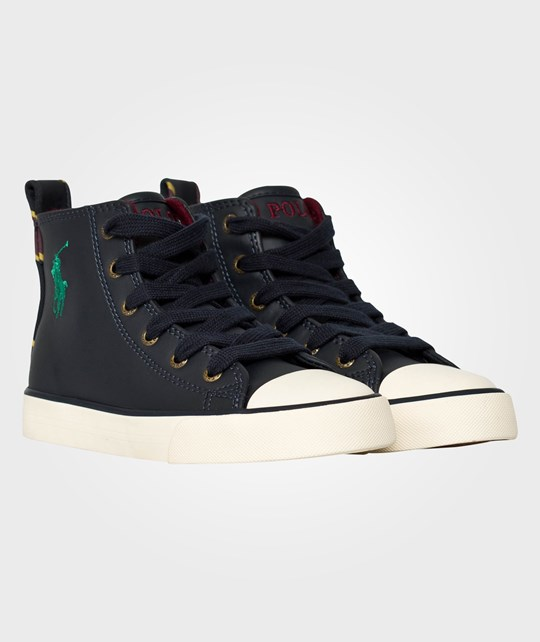 Ralph Lauren Falmuth HI Navy Leather Blue