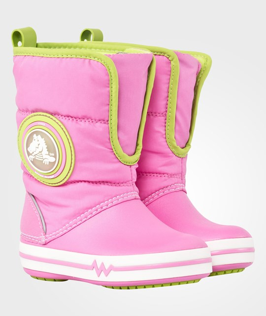Crocs CrocsLights Gust Boot PS Party Pink/Volt Green Multi