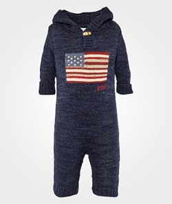 Ralph Lauren LS Hooded Flag Coverall Indigo Ragg