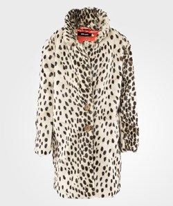 Bobo Choses Coat Leopard False Fur Yellow
