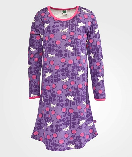Småfolk Night dress. Sunflowers M. Purple Purple
