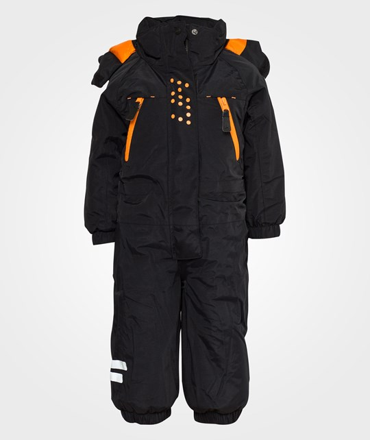 Lindberg SNOW MOUNTAINS OVERALL, BLACK Black