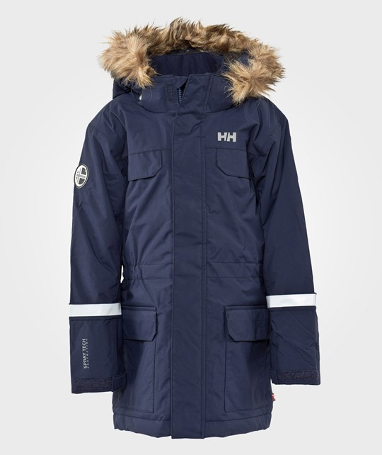 Helly Hansen Jr Powder Parka Evening Blue Blue
