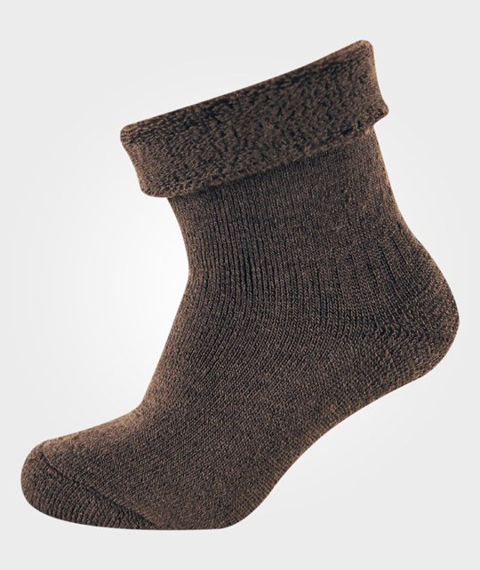 Melton Classic Babysock Woolterry Chocolate BROWN