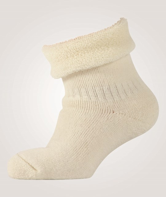 Melton Classic Babysock Woolterry Offwhite White