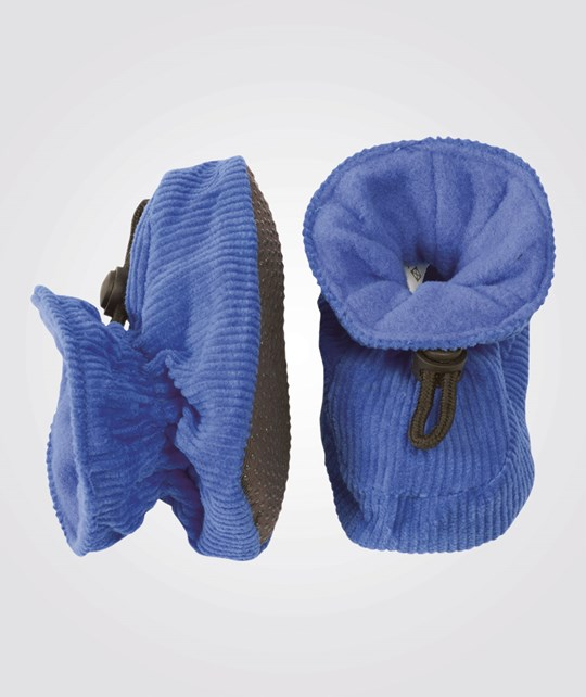 Melton Booties Cotton Corduroy Lobelia Blue