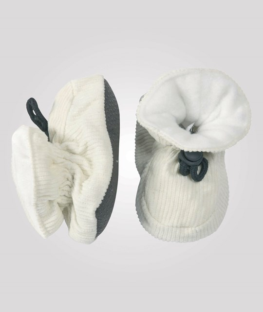 Melton Booties Cotton Corduroy Offwhite Hvid