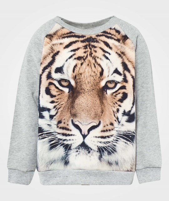 Popupshop Basic Sweat Tiger Print Multi