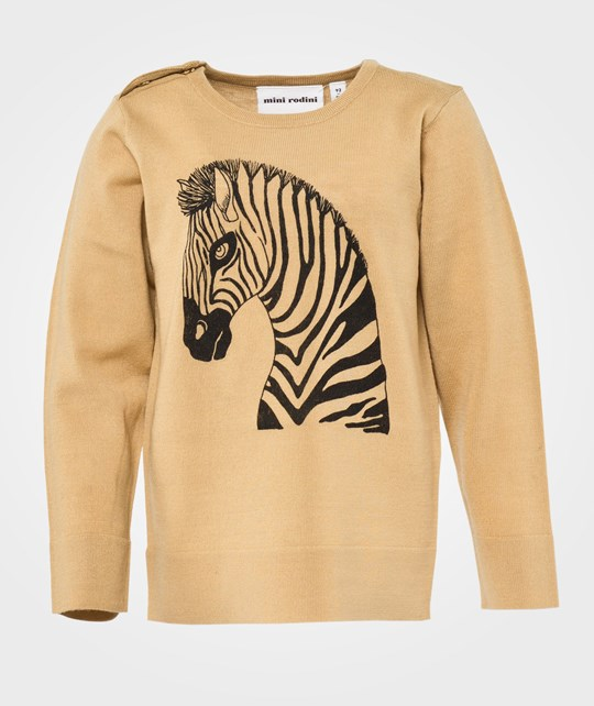 Mini Rodini Zebra Sp Sweater, Beige Beige