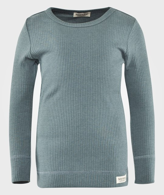 MarMar Copenhagen Plain Tee LS Modal Stormy Weather Blue