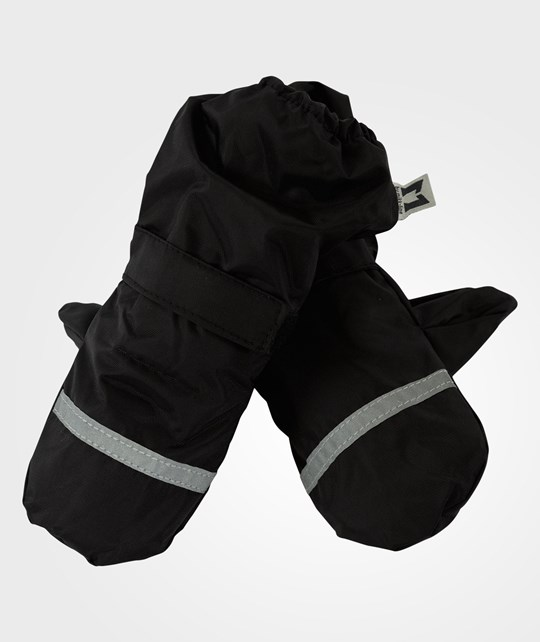 Mikk-Line Mittens Coated Black Black