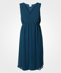 Mamalicious Yolanda Mary SL Woven Dress Majolica Blue Blue
