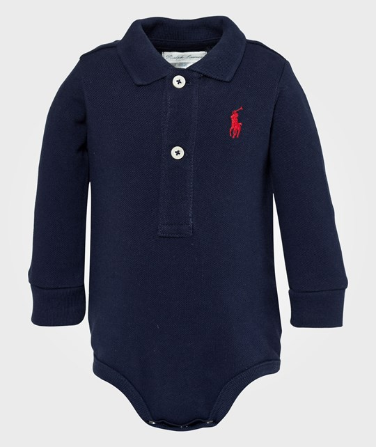 Ralph Lauren Ls Bodysuit French Navy Blue