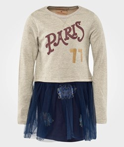 Scotch R'belle Sweat Dress With Tulle Skirt & Embellishments A Dessin A
