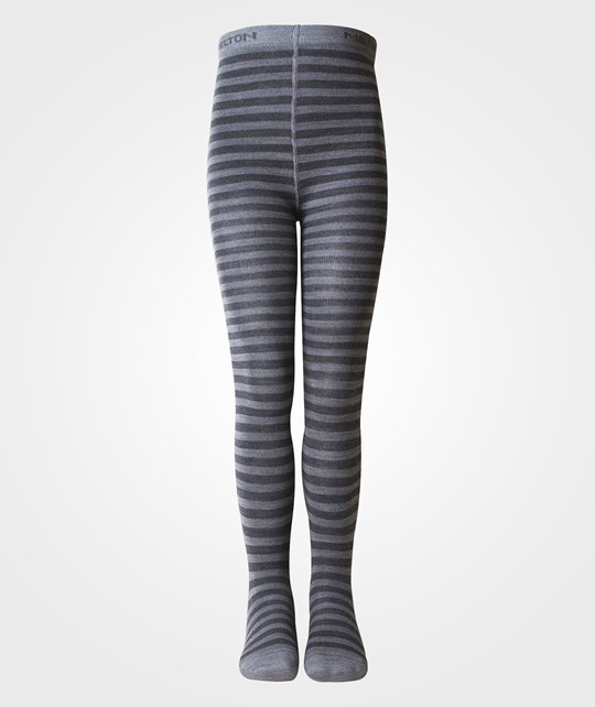 Melton Classic Tight Wo/Co Stripe Dark Grey Melange Grå