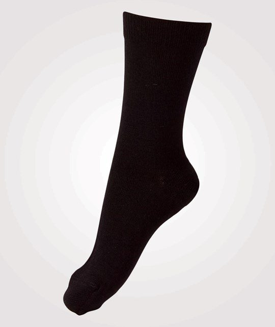 Melton Classic Superwash Woll Sock Black Black