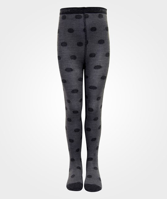 Melton Classic Tight Wo/Co Dots Dark Grey Melange Grey