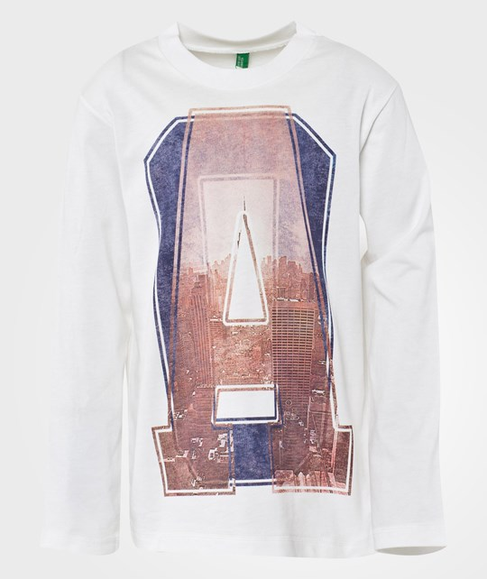 United Colors of Benetton Футболка L/S пестрый