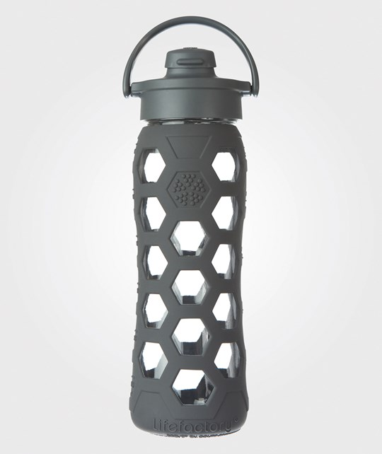 lifefactory Hexacon Flip Top Bottle 650 ML Carbon/Grey Multi