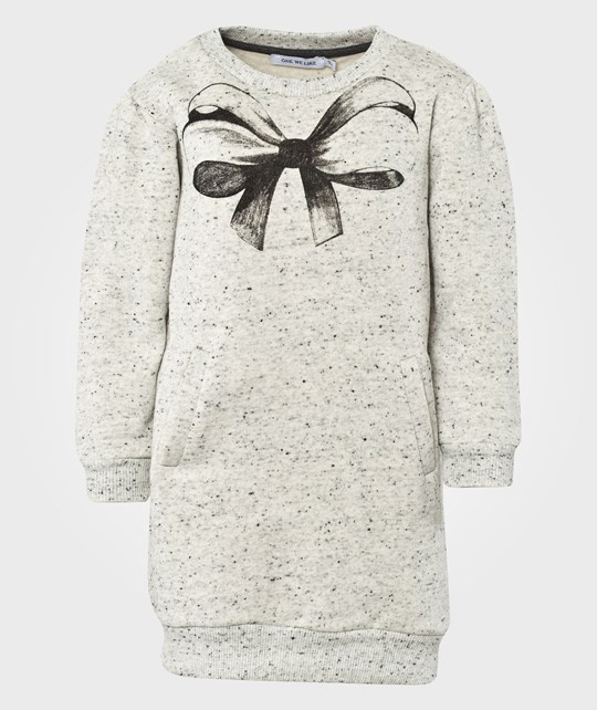 One We Like Hipp Dress Bow Grey Dot Black