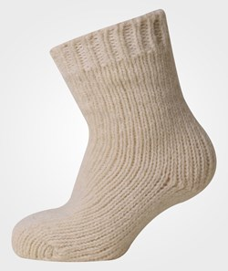 Melton Classic Baby Wool Sock Offwhite