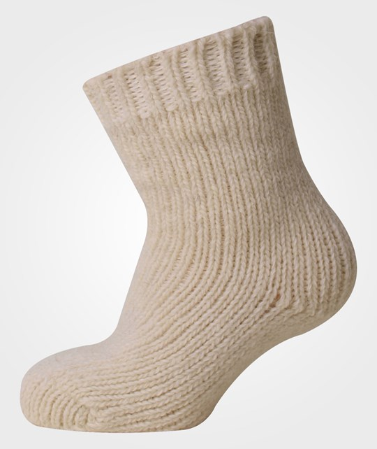Melton Classic Baby Wool Sock Offwhite Vit