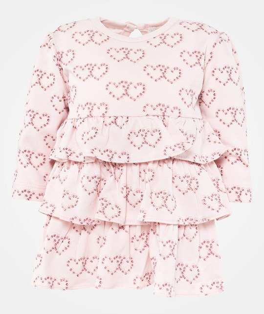 Livly Girls Heart Nicki Dress Baby Pink/Heart Print Pink