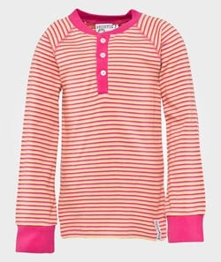Geggamoja Sweater Grandpa 3 striped cerise