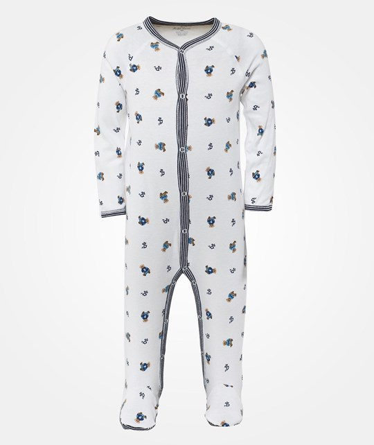 Ralph Lauren Bear Coverall White Multi W French Navy Blue
