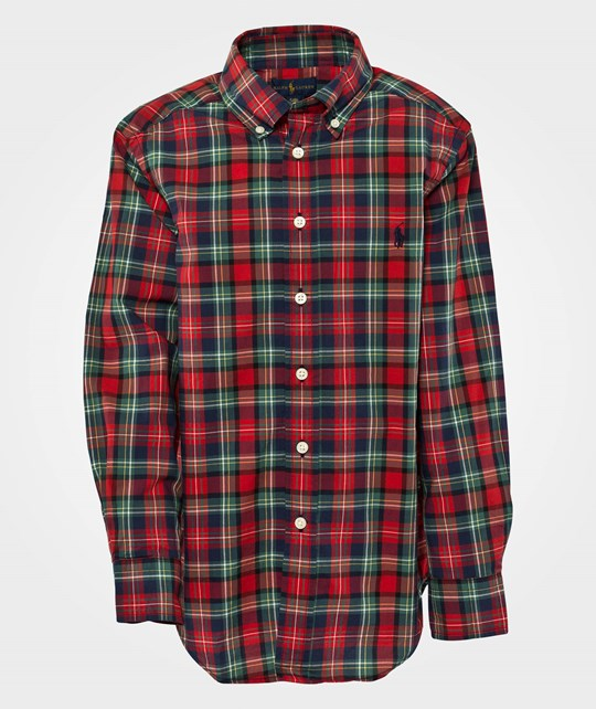 Ralph Lauren Ls Blake Shirt W/ Pp Red Multi Red