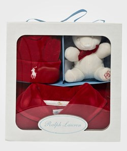 Ralph Lauren Ls Shawl Coverall Gift Set Park Avenue Red