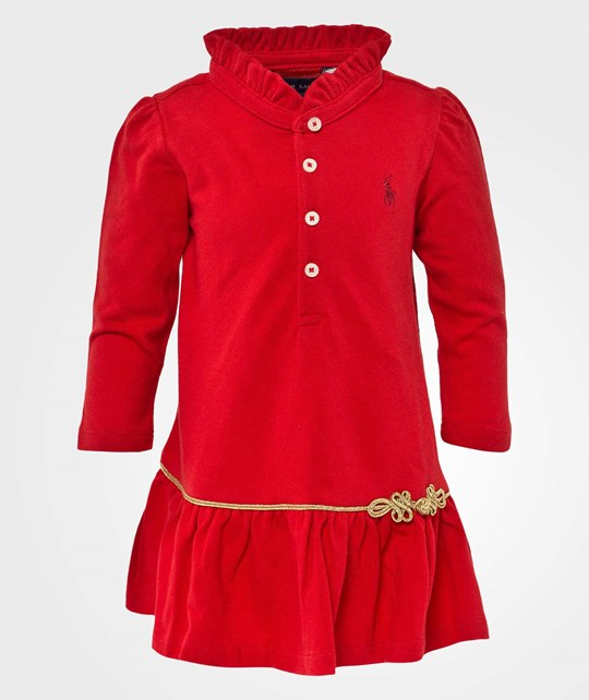 Ralph Lauren Ls Polo Dress  Pp RL2000 Red Punainen