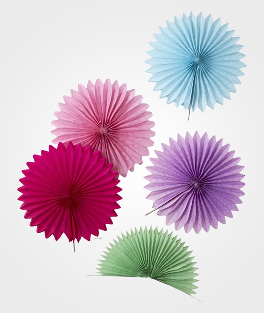 Rice 5 Mini Hanging Fans Ass. Colors Multi