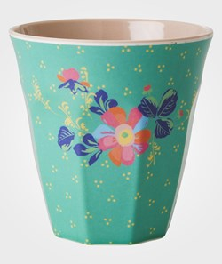 Rice Melamine Cup Dusty Green Dot