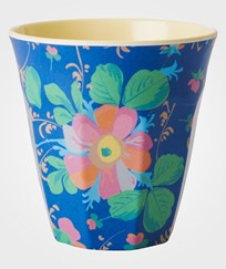 RICE A/S Melamine Cup Blue Flower Multi