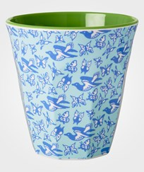 RICE A/S Melamine Cup Birds & Butterflies Blue