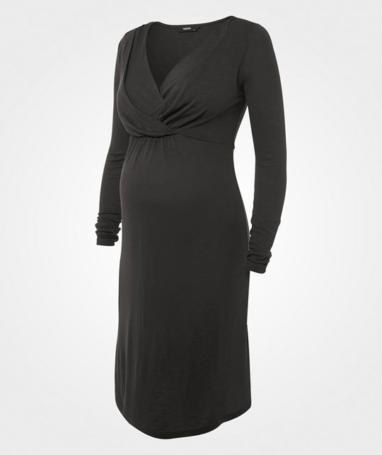 Noppies Dress nursing ls Joan Grå Black