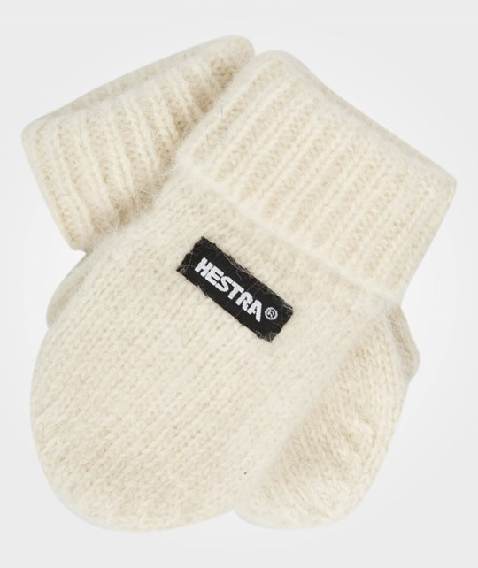 Hestra Pancho Baby MIttens Offwhite White